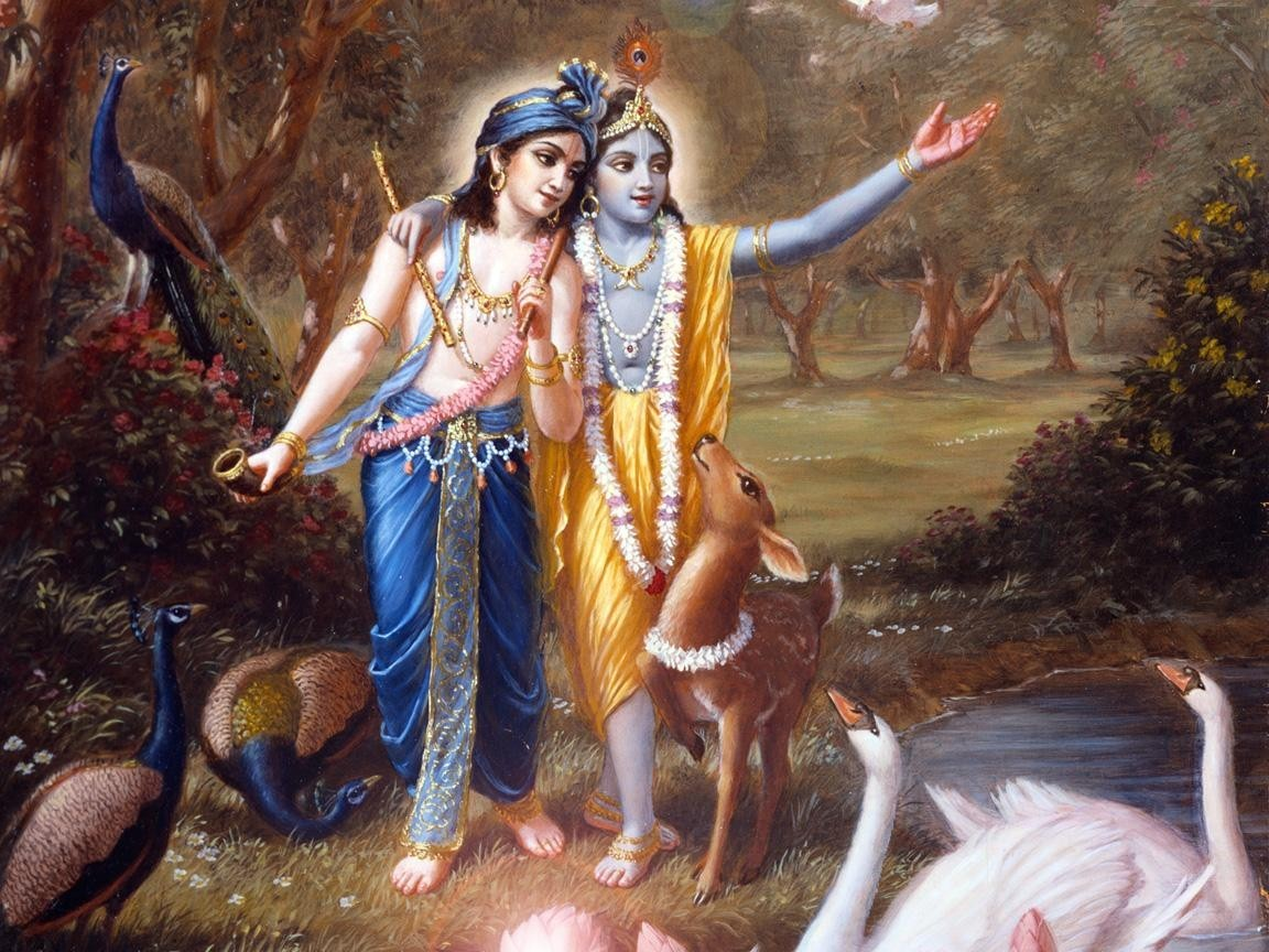 Lord Krishna glorifying trees